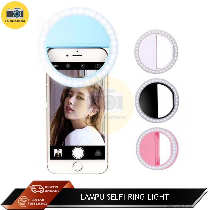 Studio Kamera - Lighting Selfie Ring Fill Light Led Portable Lampu Selfie Bulat - Warna Random By Studio Kamera.