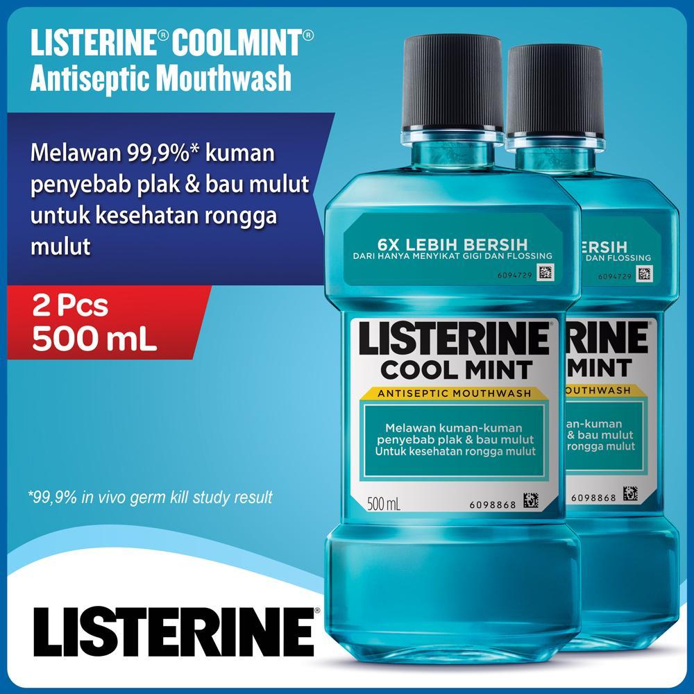 Jual Mouthwash Terbaik Fresmul Listerine Cool Mint 500ml 2 Pcs
