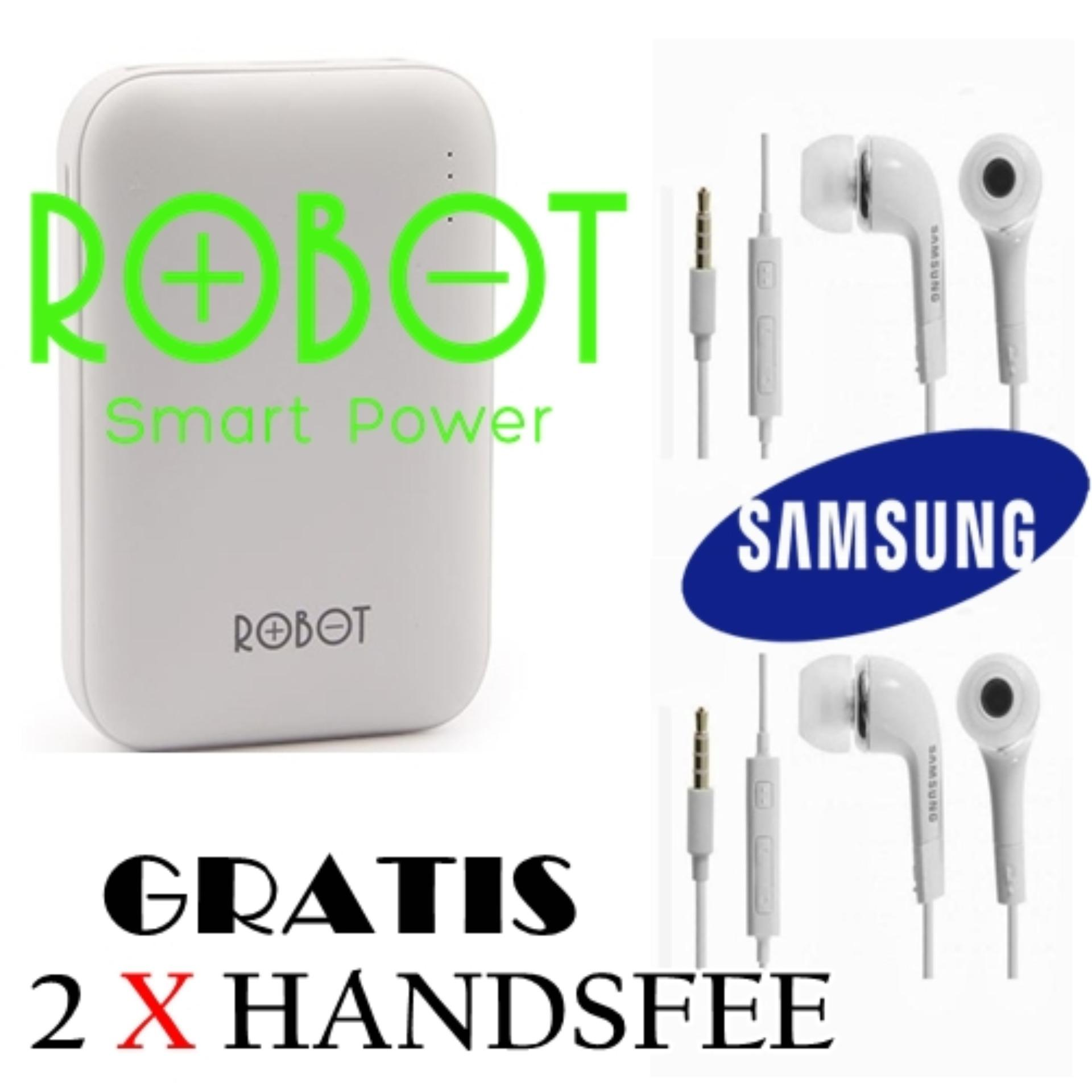 Robot by Vivan Power Bank RT7200 6600mAh 2 USB Ports for Android GRATIS 2 X handsfree samsung