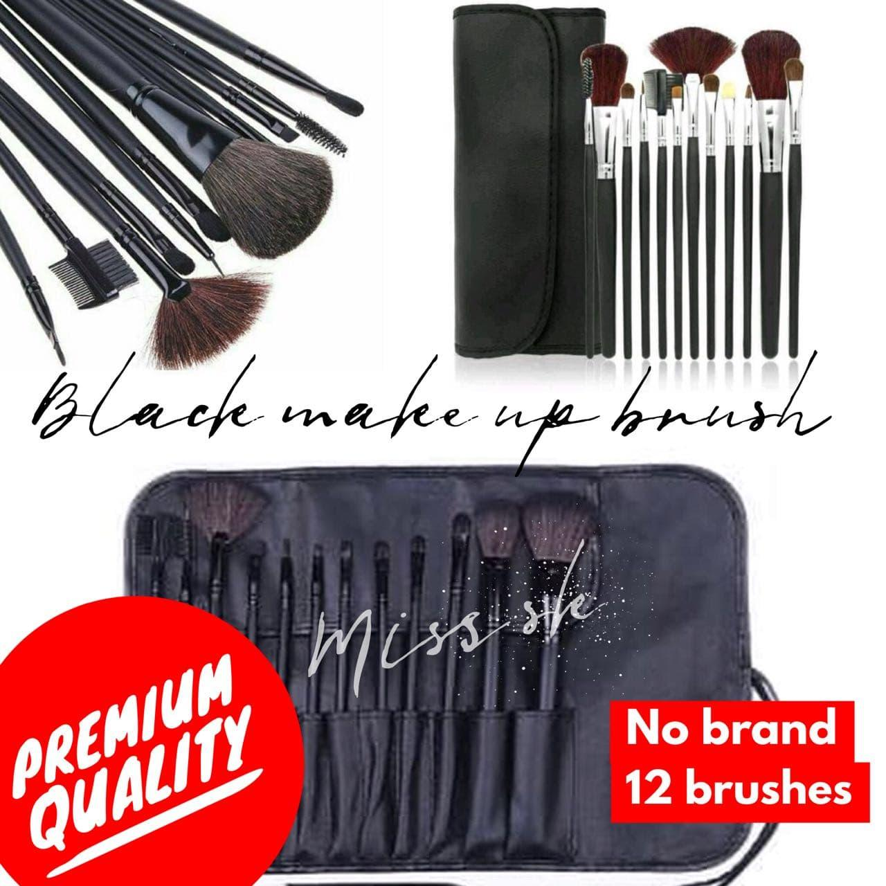 Buy Sell Cheapest Isi 12 Kuas Best Quality Product Deals Mascara Brush Naked No Brand Black Make Up
