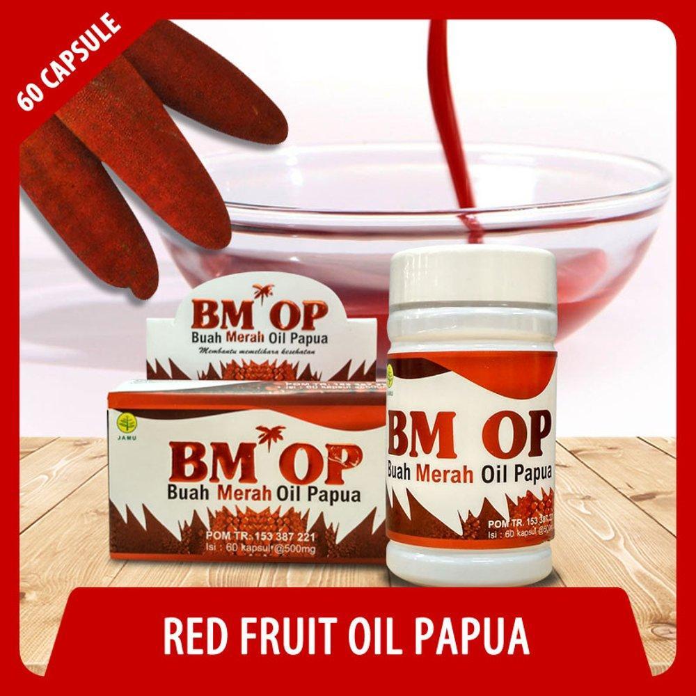 Kapsul Buah Merah Oli papua BMOP - 60kpl