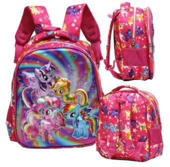 Harga preferensial Onlan My Little Pony Pelangi 5D Timbul Hologram Tas Ransel TK New Model Import