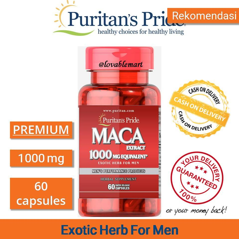 Jual Produk Kesehatan Seksual Catur Ex Herbal Pengganti Obat Kuat Puritan Pride Maca Extract 1000mg 60caps Puritans Premium Exotic Herb For Men Performance