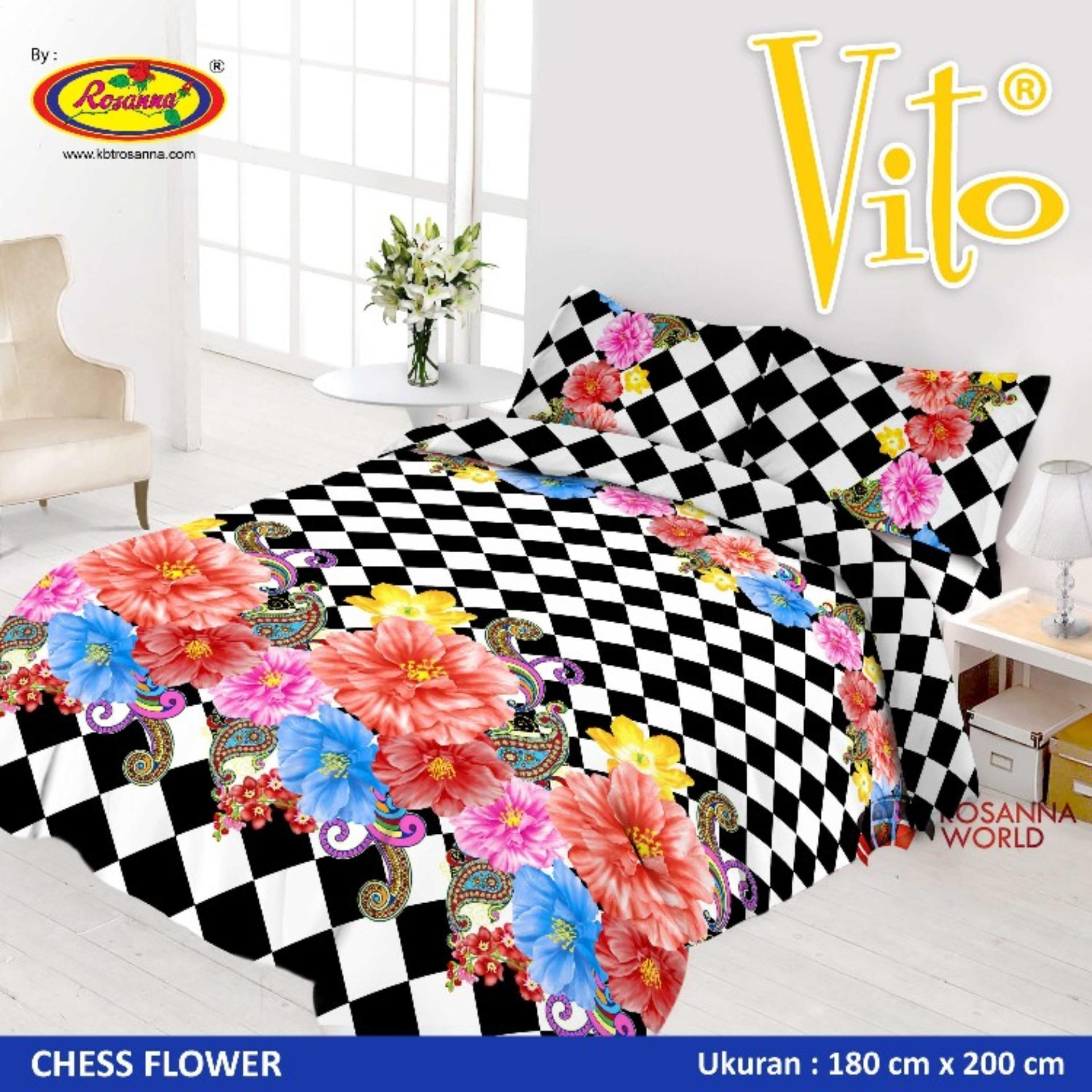 Buy Sell Cheapest Selimut Vito Chelsea Best Quality Product Deals Kids Sutra Panel 100x140 Submarine Sprei 3d Disperse Queen Bantal 2 Chees Flower Black