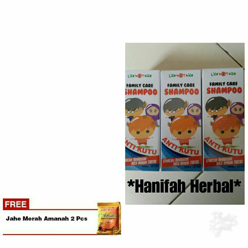 Shampo anti kutu family care 3 paket