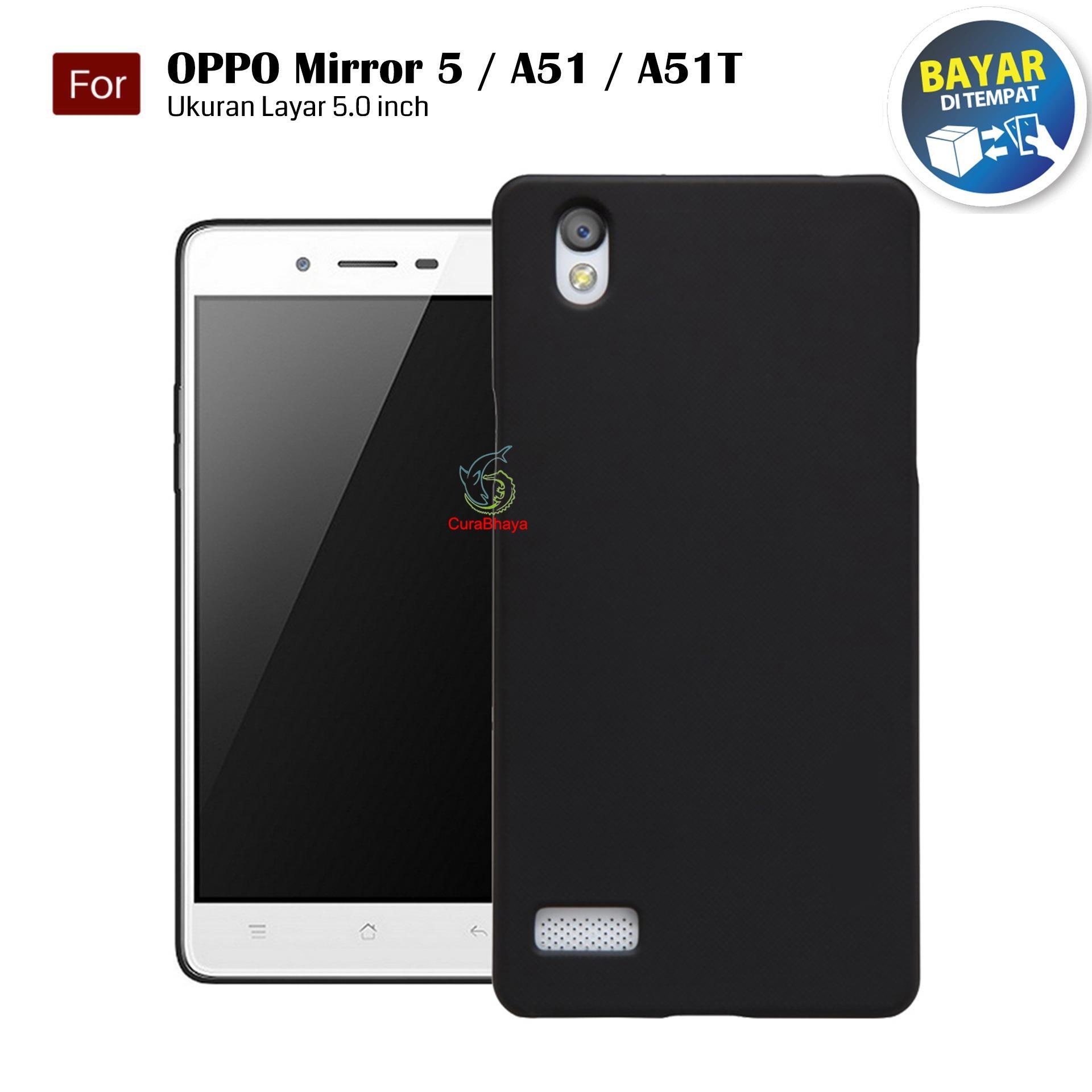 MidNight Oppo Mirror 5 / A51 / A51T | Slim Case Black Matte Softcase Premium (