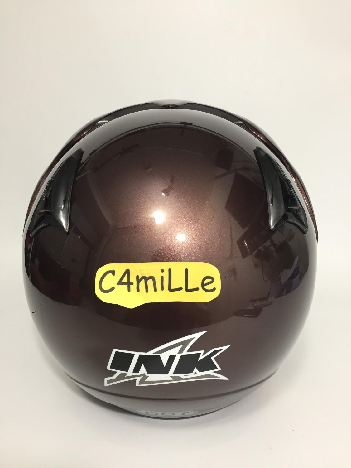 HELM INK CX 22 ORIGINAL DARK MAROON HALF FACE SIZE M