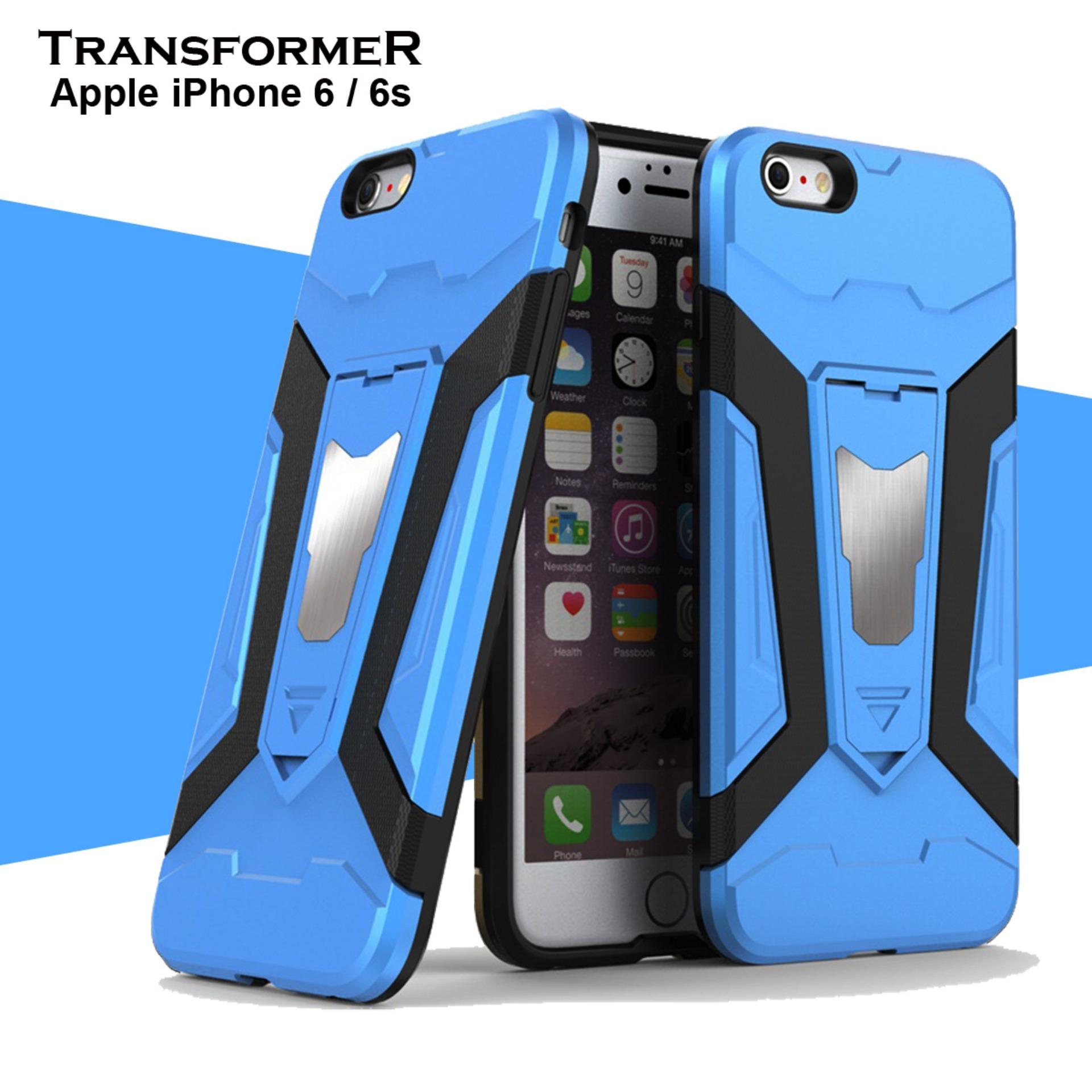 ProCase Transformer Kickstand Slim Armor Hardcase for Iphone 6 / 6s - Biru