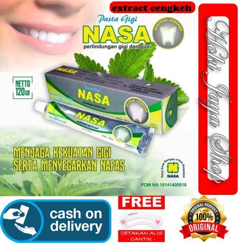 HOKI COD - Pasta Gigi NASA Odol Original 100% Sikat Gigi Herbal Dengan Ekstrak Cengkeh Menjaga Kekuatan Gigi - 1pcs + Gratis Cetak Alis CAntik - Premium