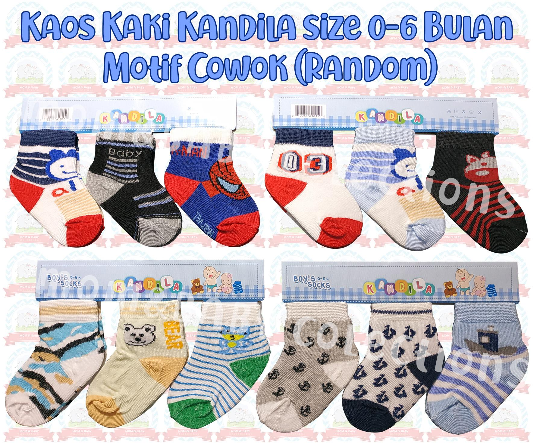 Kaos Kaki Bayi Kandila 3 In 1 Size 0-6 Bulan By Mom & Baby Collections.