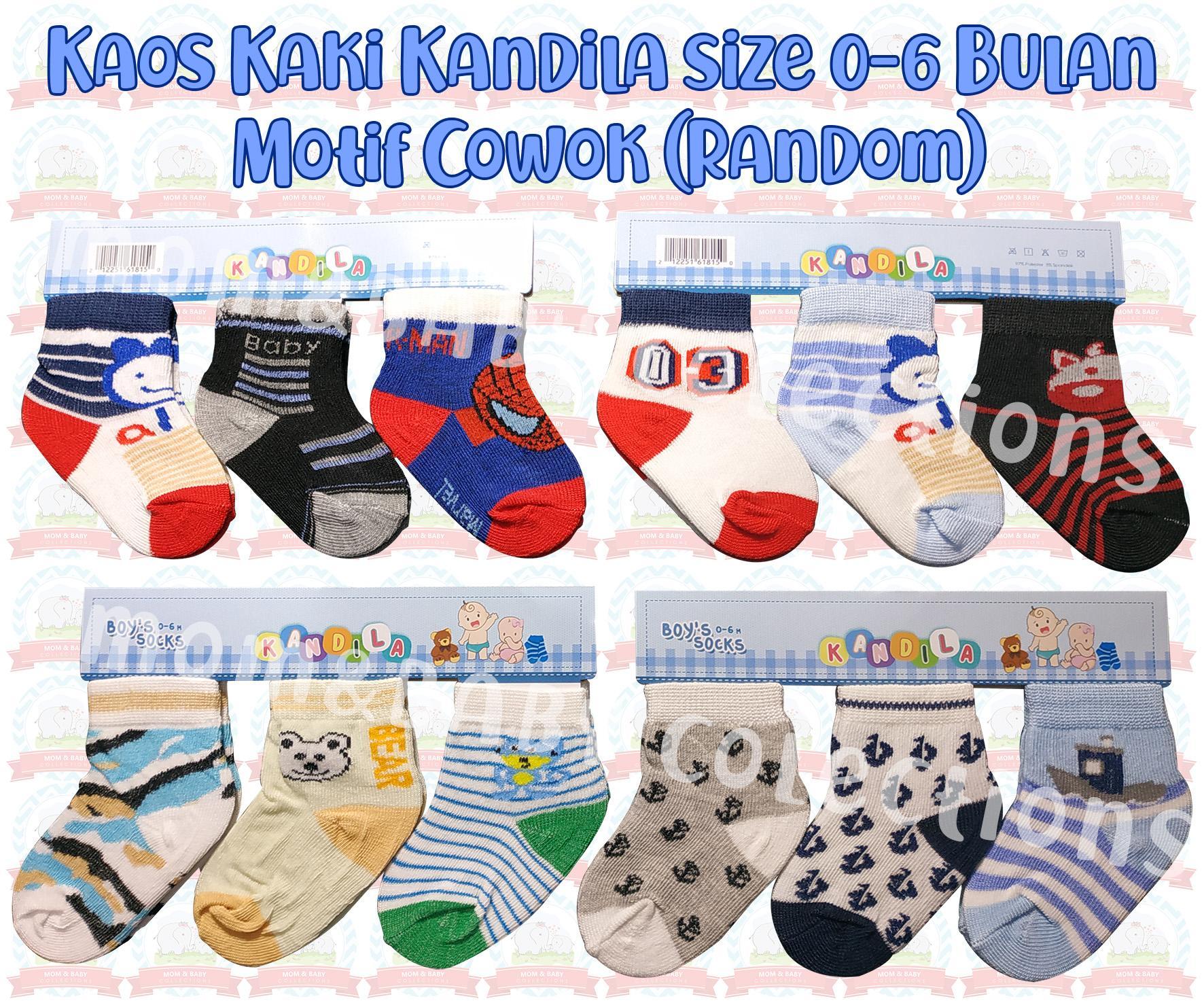 Kaos Kaki Bayi Kandila 3 In 1 Size 0-6 Bulan By Mom & Baby Collections.