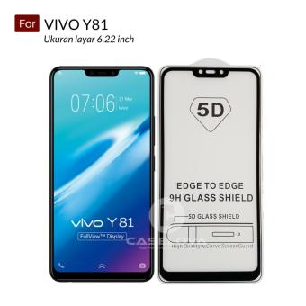 Cheapest Price Caselova Premium Full Cover Tempered Glass 5D Round Curved Edge For Vivo Y81 -