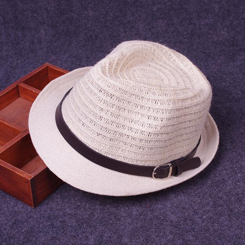Topi Sulap Chunma Musim Panas Topi Sulap Pinggir Keriting Atas Bulat (Putih  Susu) 5a41a77986