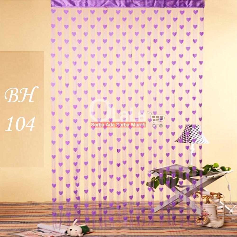 Tirai benang motif love tirai pintu kamar tidur BH-104