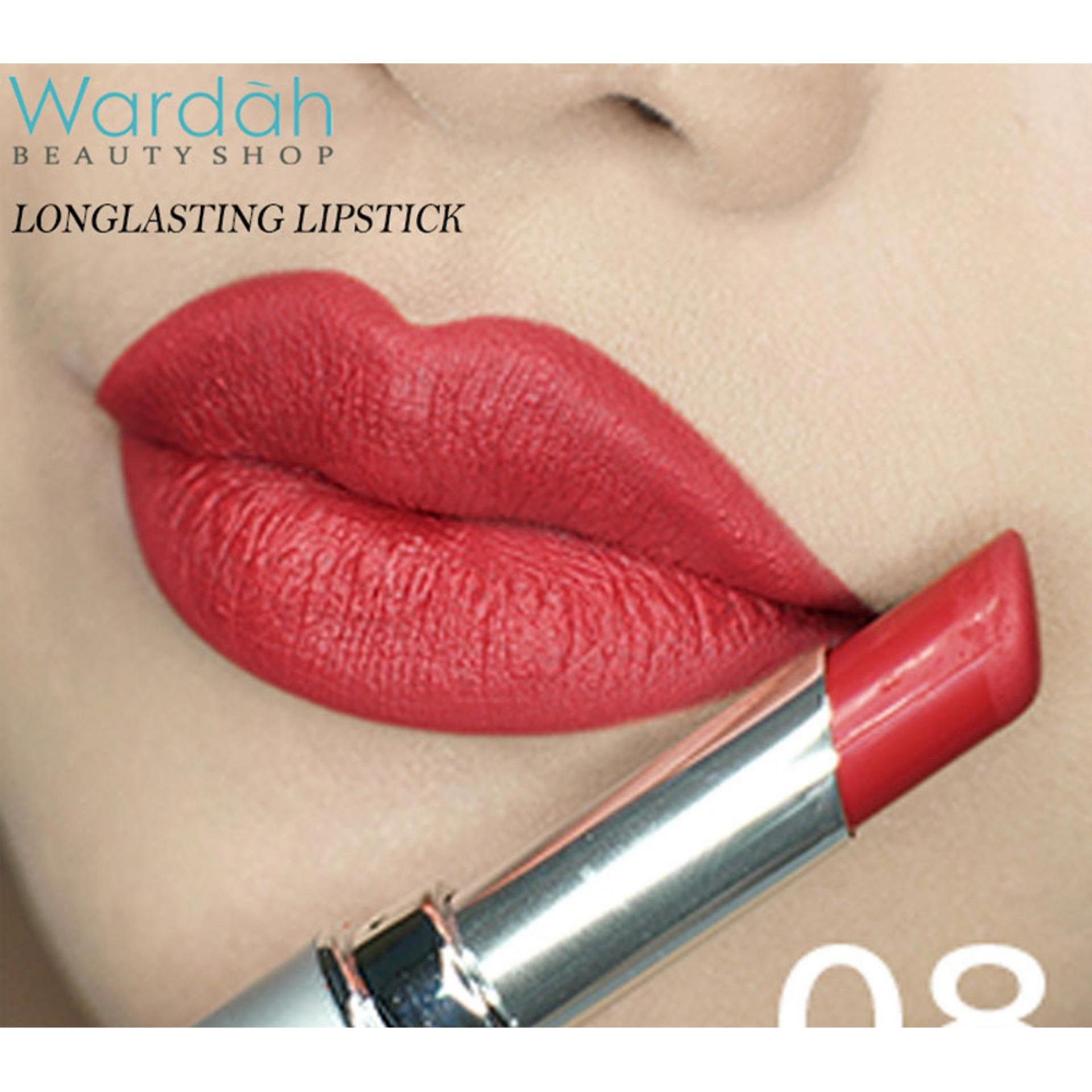 Wardah Longlasting Lipstick (08 Red Velvet) - Lipstick Matte