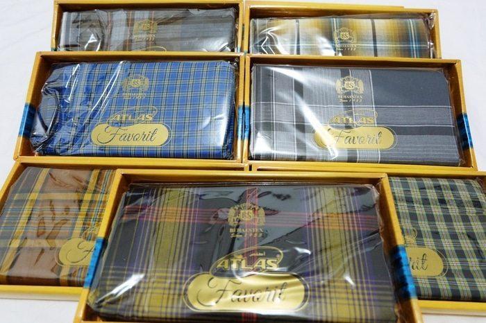 SYF-Shop Sarung Tenun Atlas Nyaman Dipakai Untuk Ibadah Shalat Acara Keagamaan Acara Ada Bahan Halus