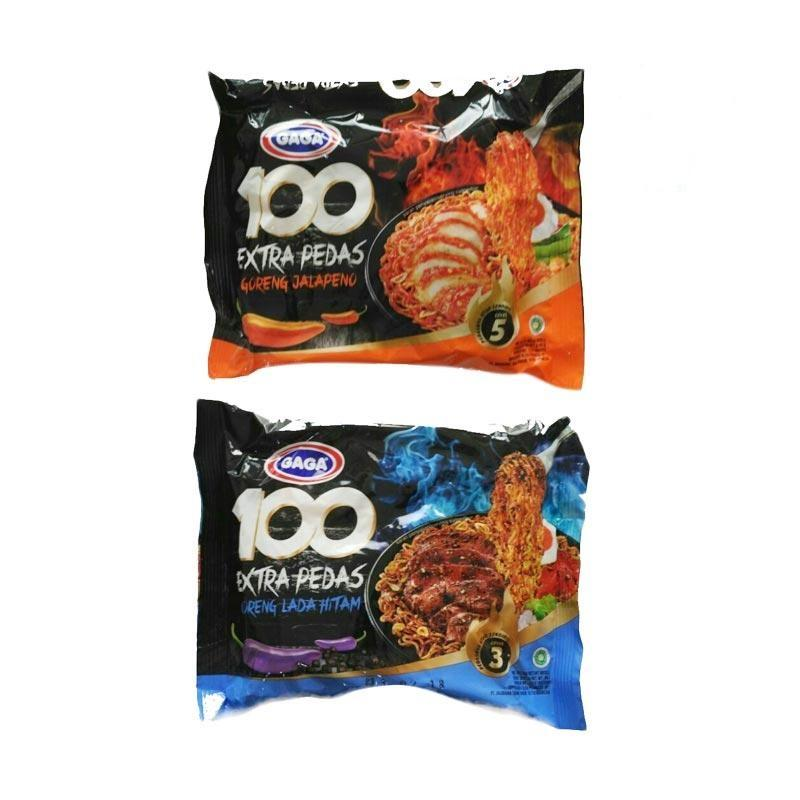 GaGa Mi Instan HOT EXTRA PEDAS Goreng MIX (30 Packs) 100% HALAL Indonesia MUI