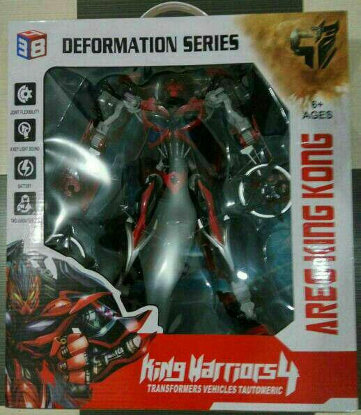 MAINAN ANAK ROBOT STINGER TRANSFORMER KINGS WARRIOR 4 AREA KING KONG JUMBO