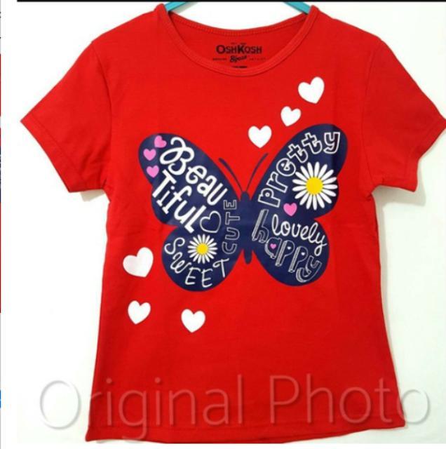 Kaos Anak 1 - 10 tahun butterfly perempuan