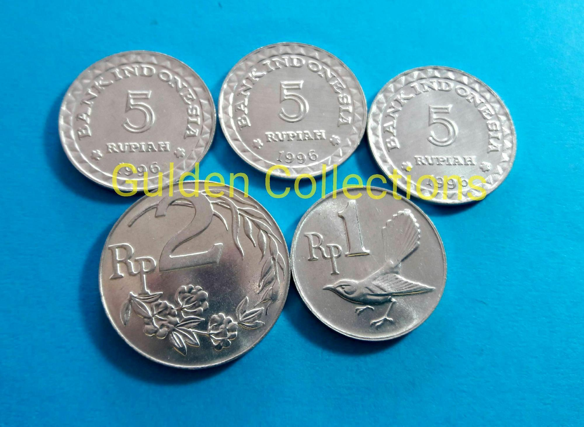 Paket Uang Kuno Mahar Pernikahan 18 Rupiah Koin 5 5 5 2 1