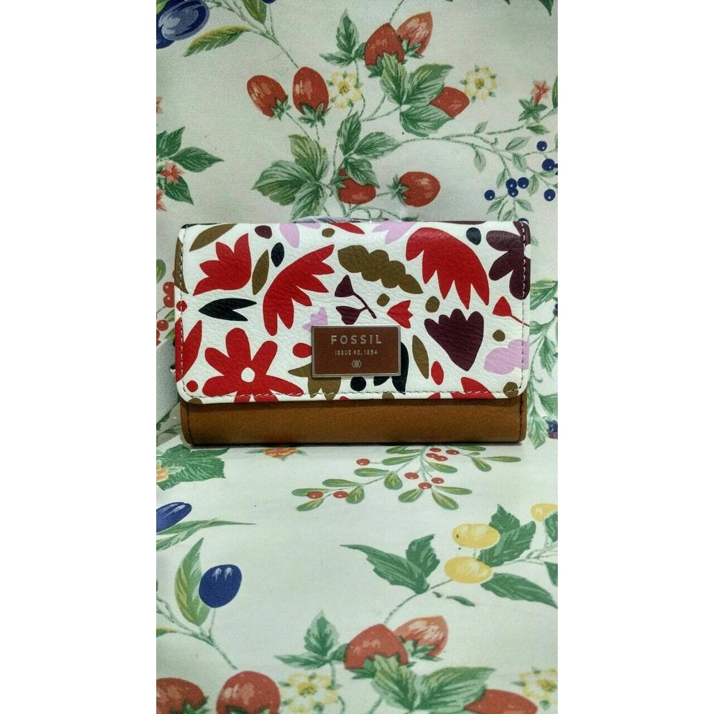 Ready Dompet Fossil Dawson Floral Short Wallet Original