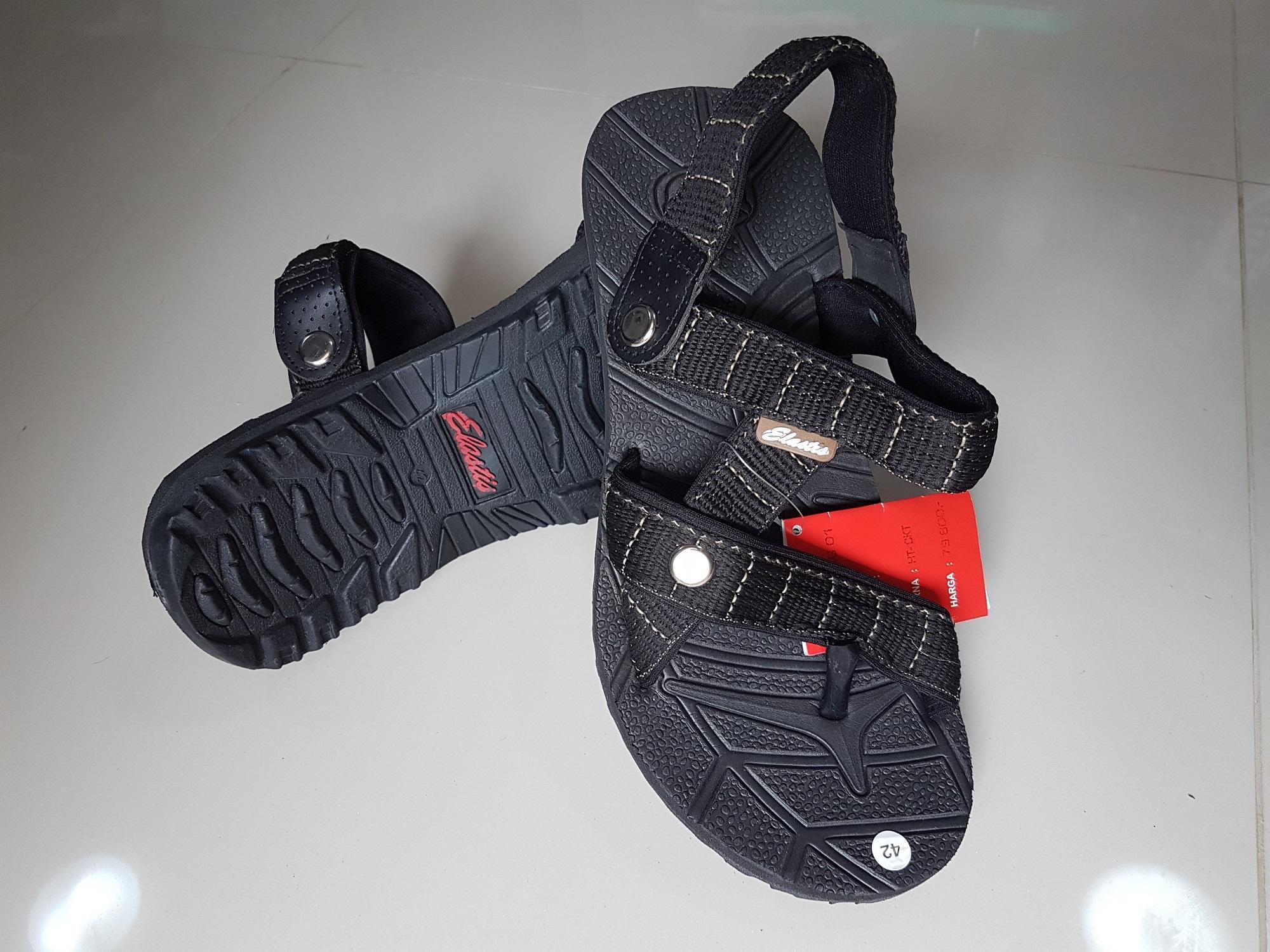 HOT DEALS!!  Sandal Gunung Elastis Sendal Jepit outdoor Ardiles bukan eiger adidas - Hitam, 38 TERMURAH / MURAH / PACKING RAPIH / PENGIRIMAN CEPAT