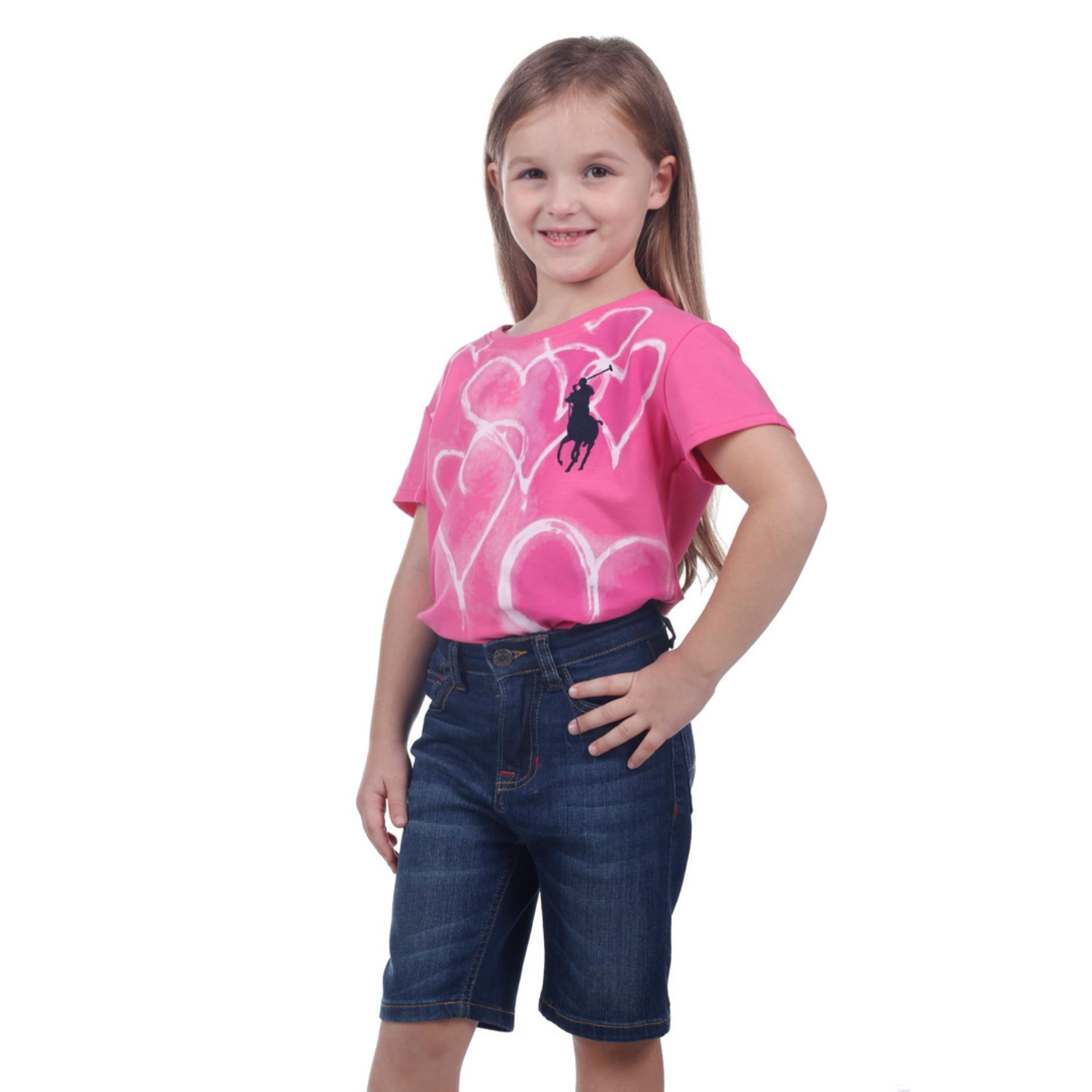 POLO RALPH LAUREN - T SHIRT CUSTOM FIT S/S Maui Pink KIDS GIRL