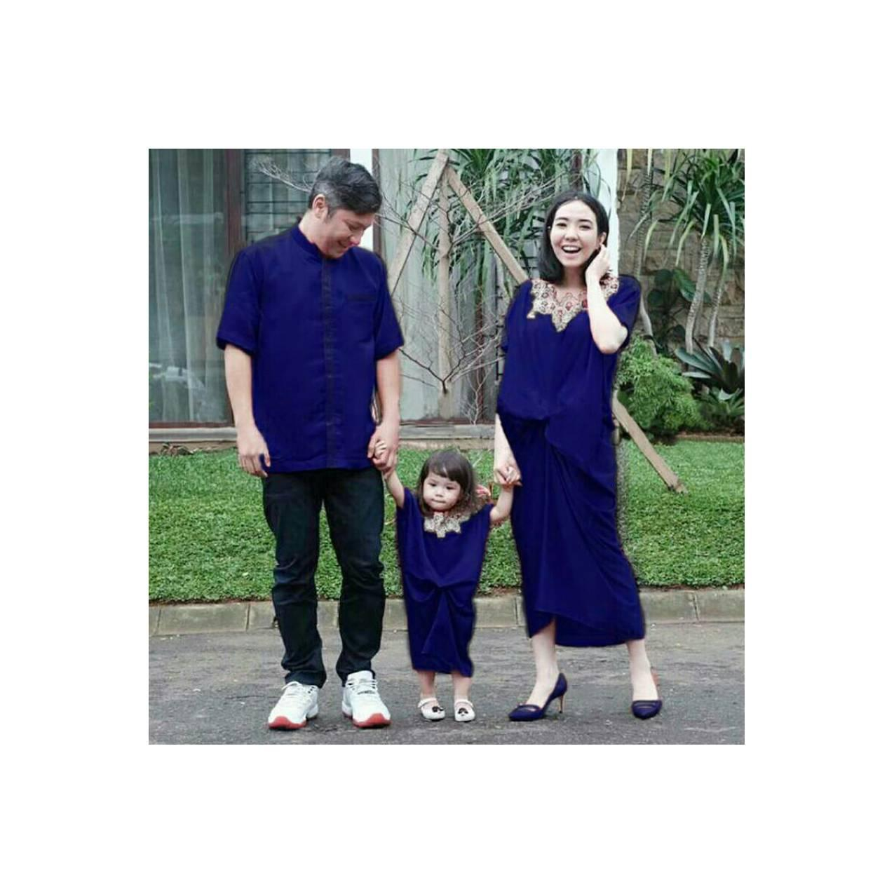 couple kaftan satin gisella 3in1 ( ibu+anak+ayah)
