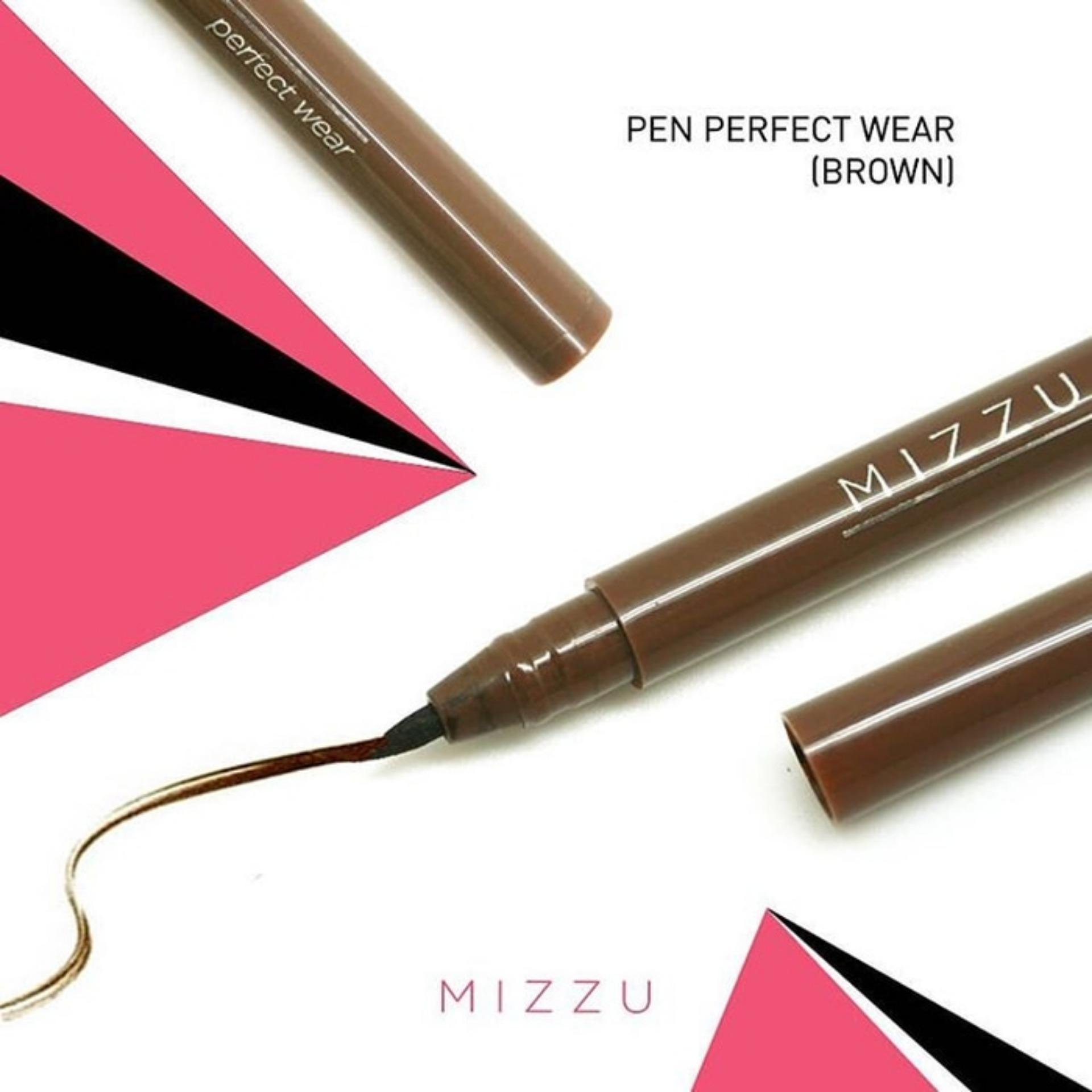 Mizzu Eyeliner Pen Perfect Wear (Brown) - Warna Pigmented Eyeliner