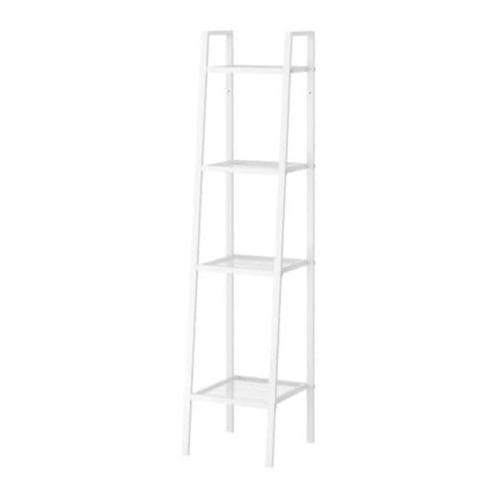[ GARANSI 100% ] IKEA LERBERG, Unit rak bertingkat yang serbaguna,uk 35x35x148cm,putih @ rak gantung serbaguna / rak besi serbaguna / rak buku serbaguna / rak susun serbaguna / rak serbaguna 3 4 susun /rak dapur serbaguna portable sudut plastik