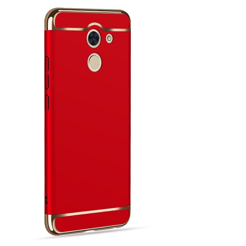 Huawei Y7 Prime Mewah Menyepuh Dgn Listrik Shockproof Kembali Casing Kover untuk Huawei Y7Prime Case Keras Rumahan Telepon
