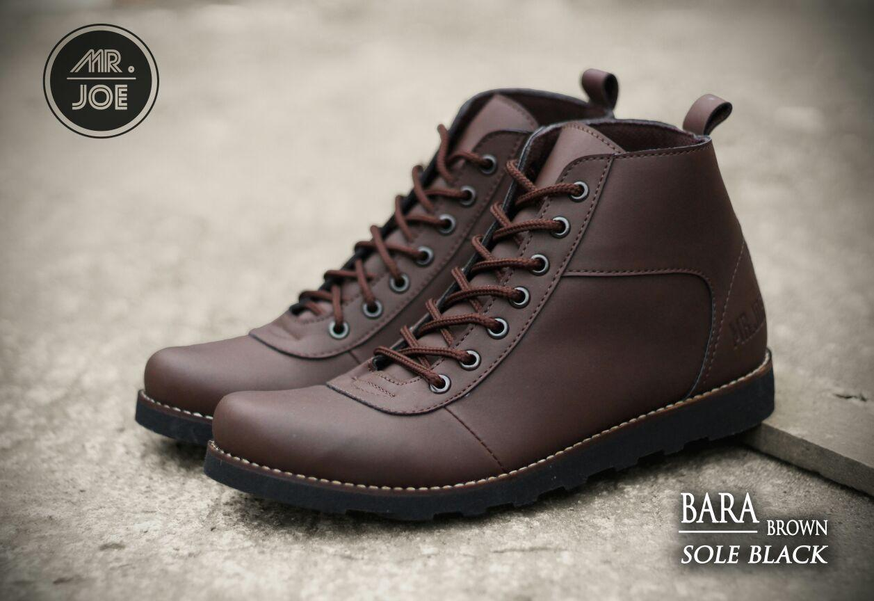 SEPATU MR.JOE BOOTS BARRA COKLAT SOL TAN ORIGINAL