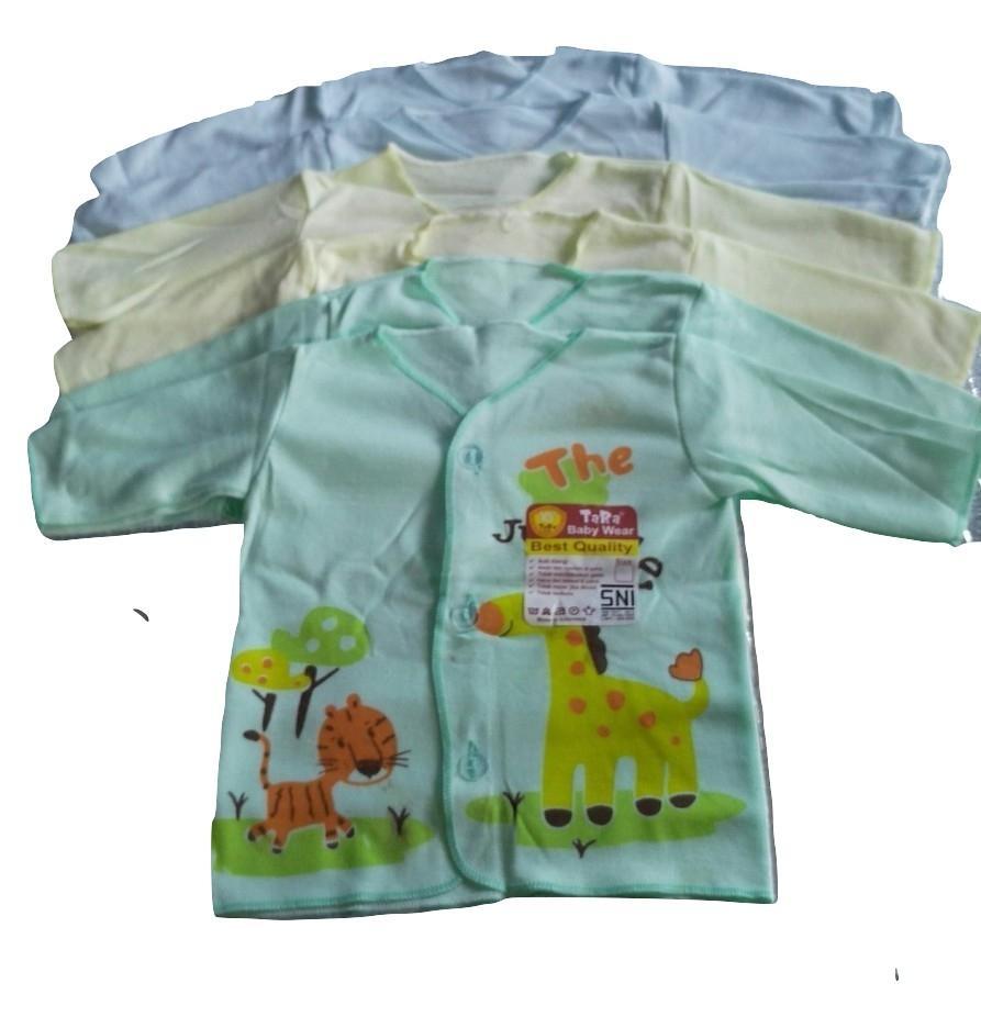 GEMA Baju Bayi Lengan Panjang / Baju Atasan Warna Tara Baby Motif Animal Standart SNI Newborn/0-6Bulan - (1/2Lusin/6Pcs)