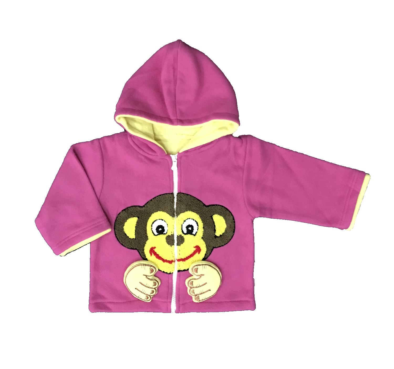 BAYIE - Jaket Bulu Bayi / Anak + topi BOBOKO  /Sweter anak laki-laki/jaket anak perempuan