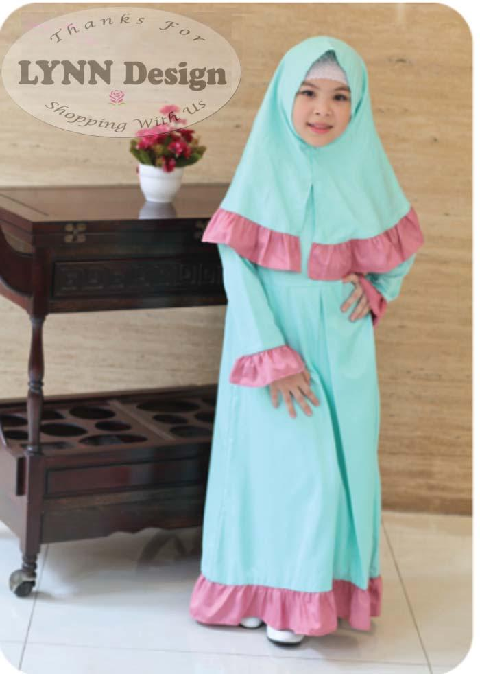Gamis Muslim anak set Premium by Lynn Design