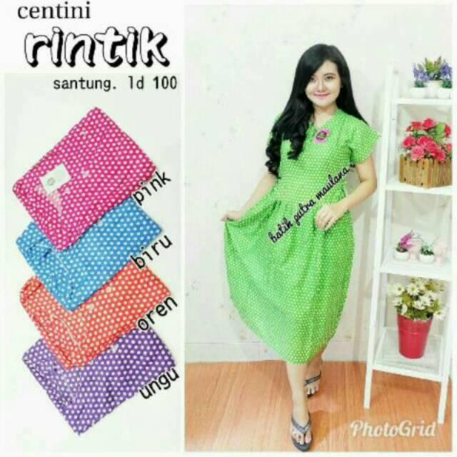 Daster centini polka grosir baju tidur murah wanita kekinian batik modern  batam d6845f7d1f