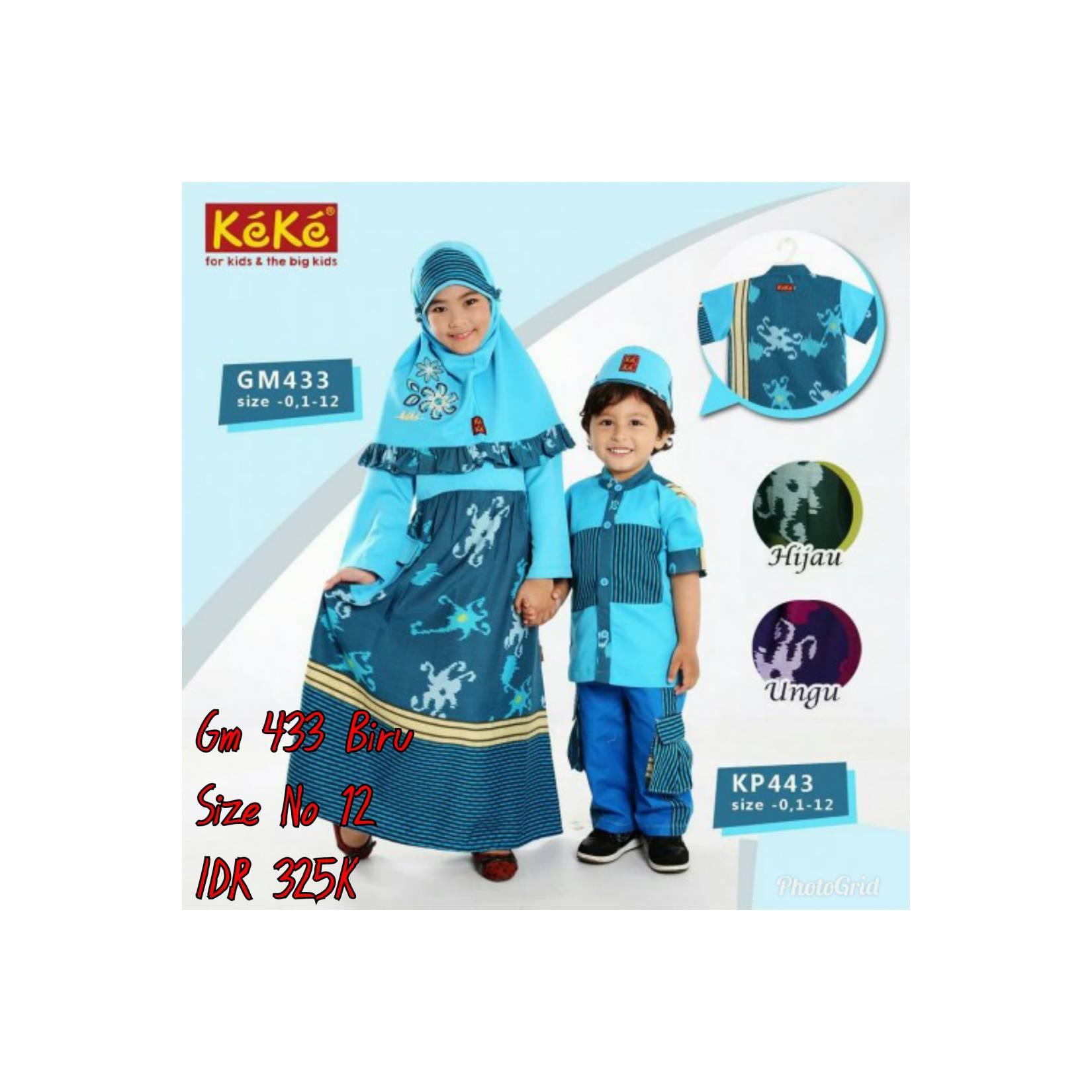 Keke Baju Anak Muslim GM 433 Biru No12 Diskon / Sale / Obral 25%