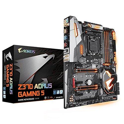 Gigabyte Motherboard Z370 Aorus Gaming 5 - LGA 1151 (300 Series) Intel Z370 (WiFi AC) HDMI SATA 6Gb/s USB 3.1 ATX Intel Motherboard - Hitam