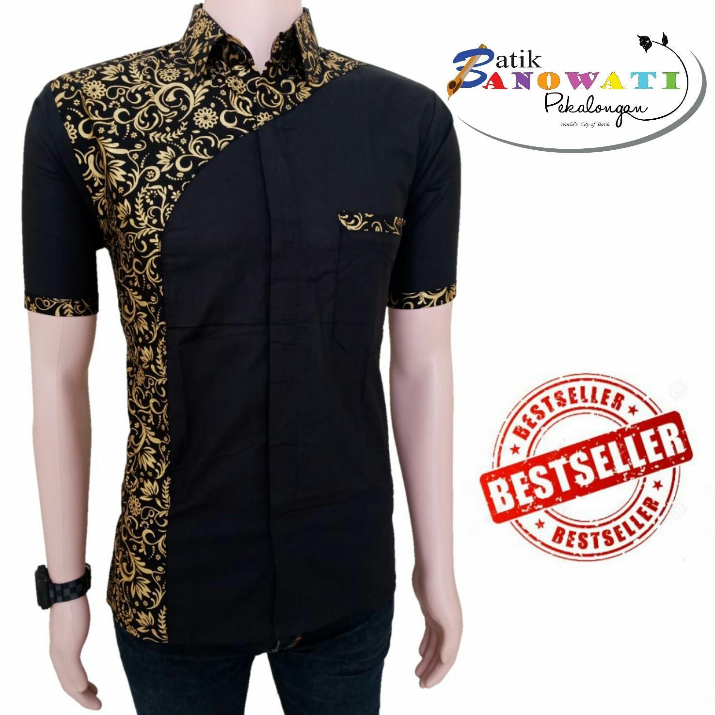 Kemeja Batik Slimfit Pria S898B [Black] Kombinasi Muslim Koko Jeans. Source · KOKO