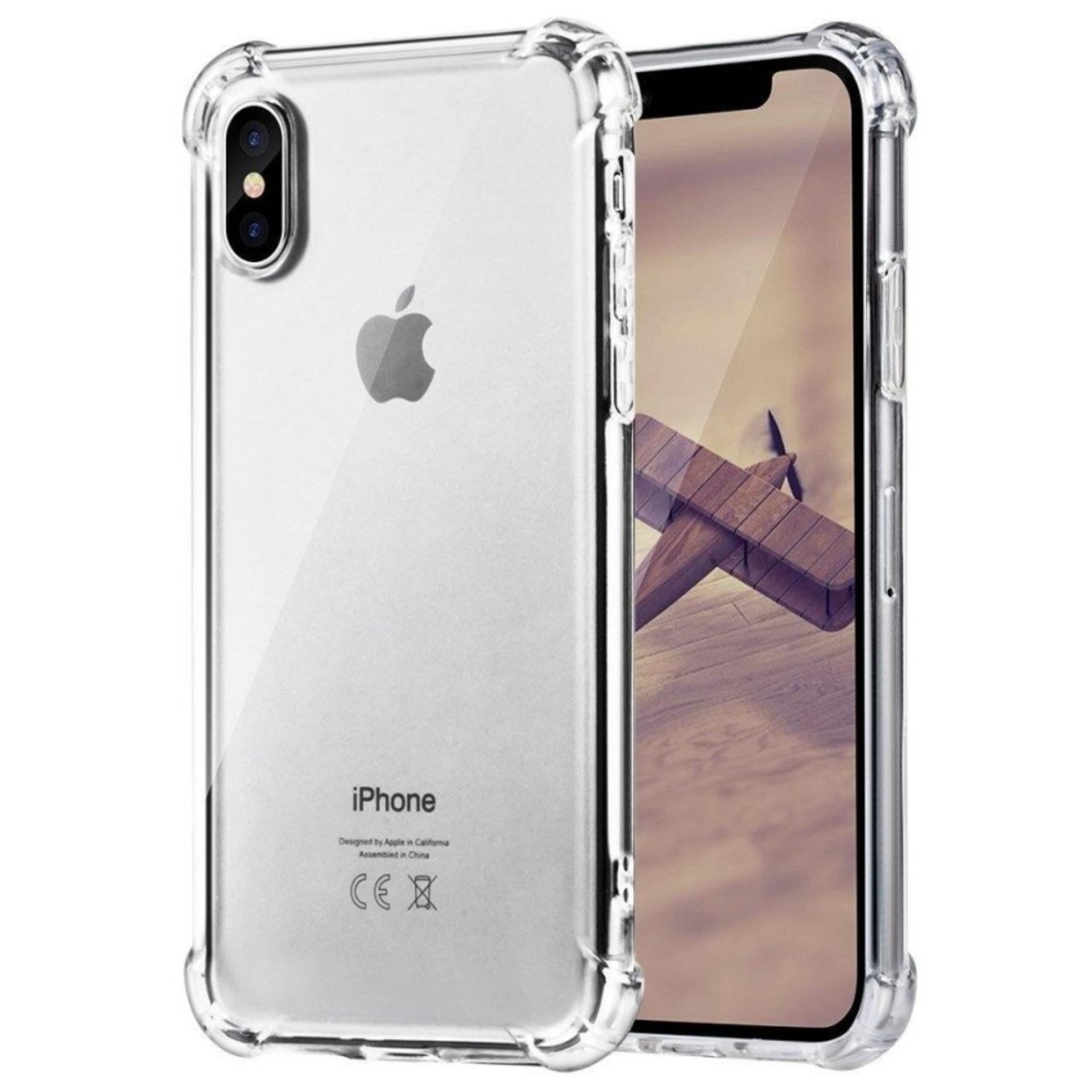 Soft Case Anti Crack  / Anti Shock Case Iphone X 4G / Case Hp - Clear