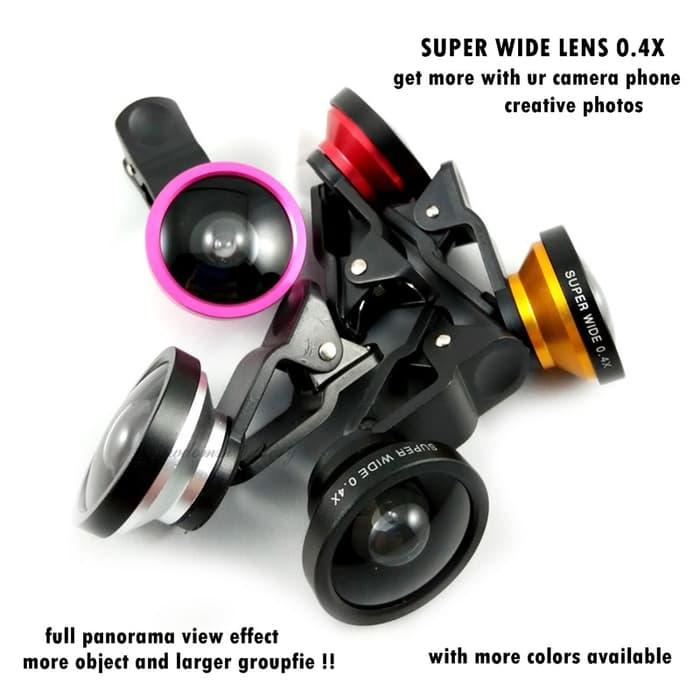 Original Lensa Superwide U004 Super Wide 0,4x Box Ungu Panjang Go Pro Murah