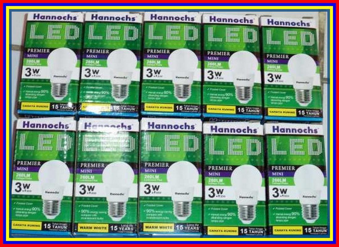 Buy Sell Cheapest Lampu Led 3watt Best Quality Product Deals 3 Watt Hannochs Premier Cahaya Warm White Kuning 3w 260 Lumens Murah Garansi 1thn
