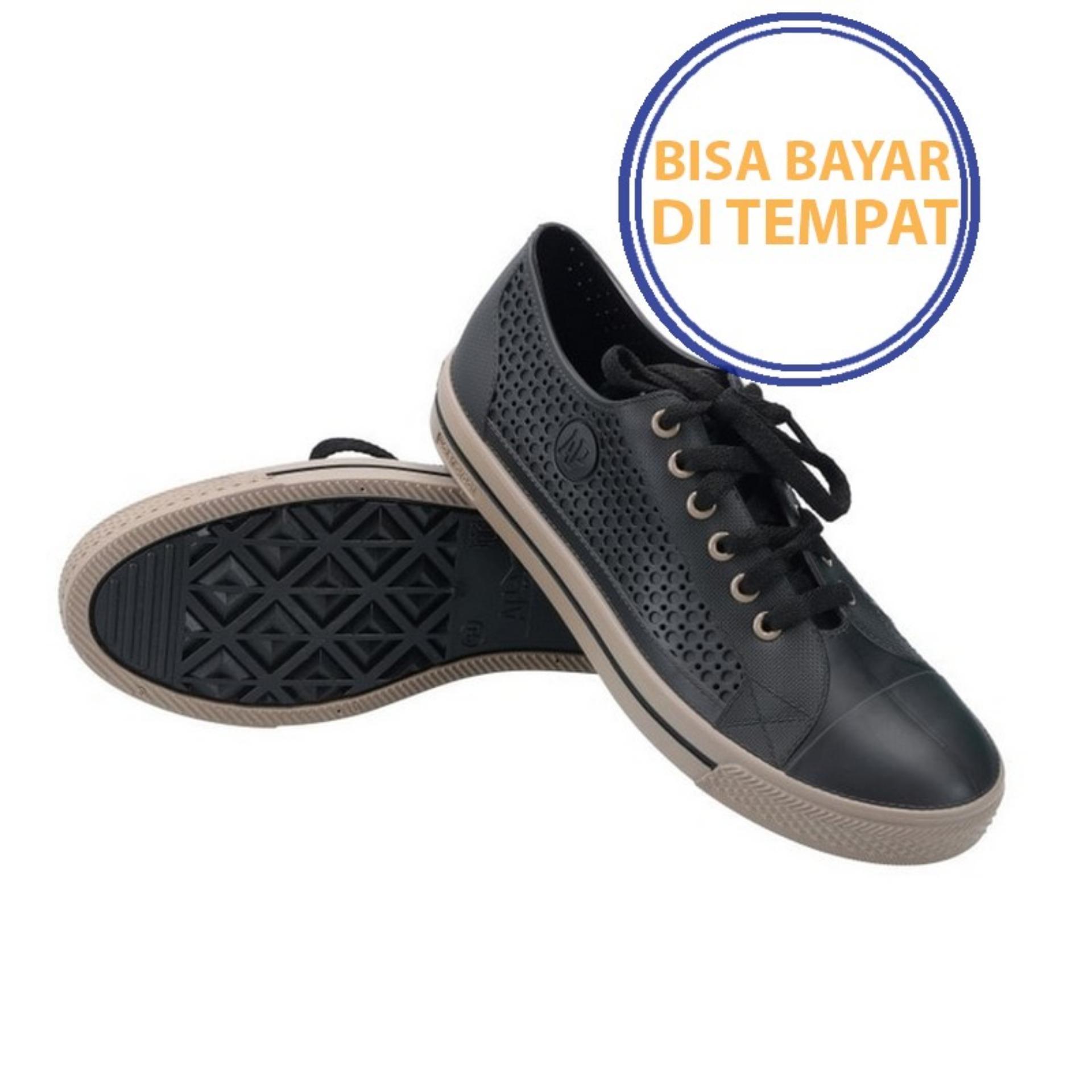 PROMO SAAT INI    Sepatu APstar AP Star Sepatu Pria Wanita PVC bkn Converse Nike Coklat