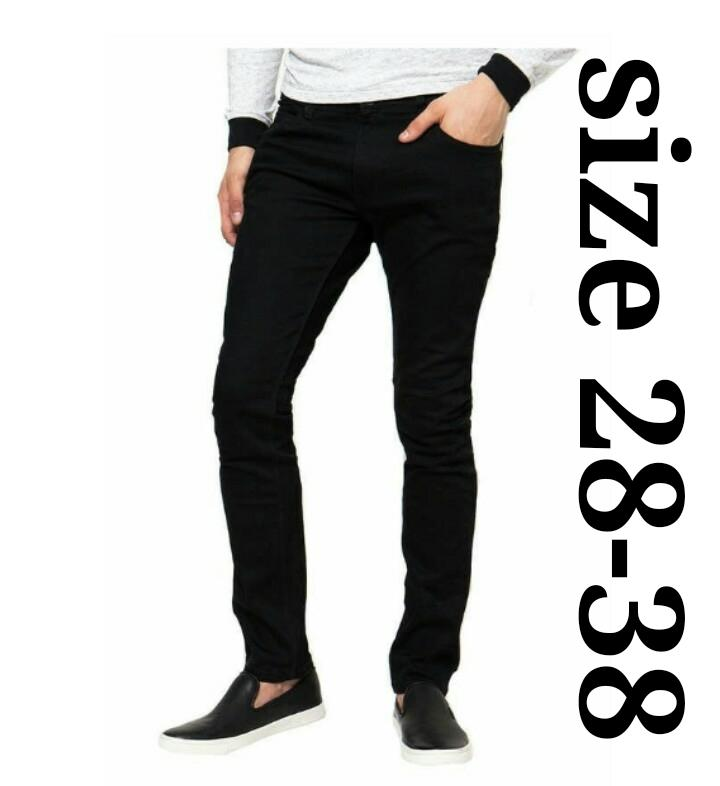 Celana jeans pria slimfit - celana denim blackfield - Hitam
