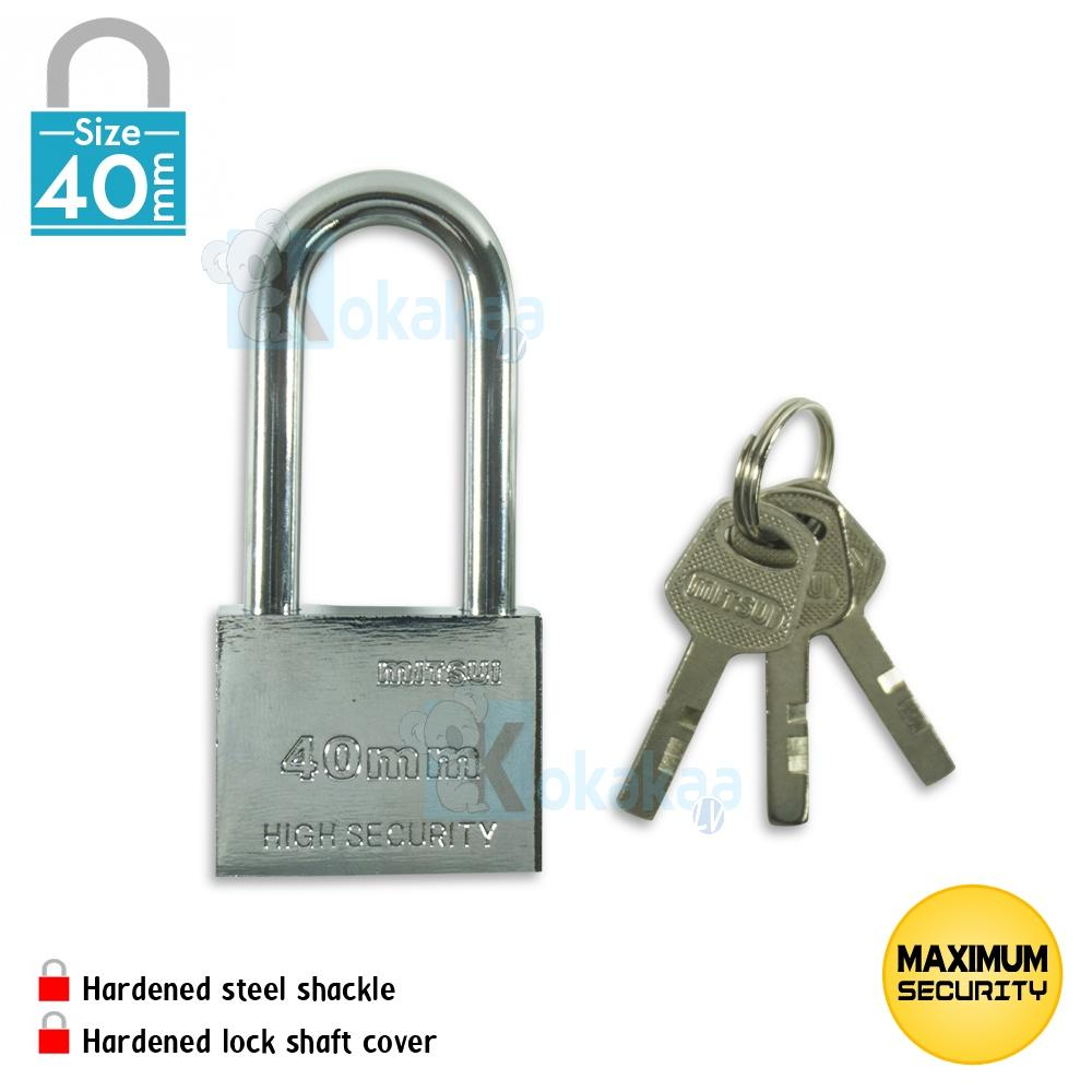 Peralatan Keamanan Terbaru Zehn Gembok Waterproof Red Mitsui Baja Size Panjang Mpll 40mm High Security Padlock Anti Karat