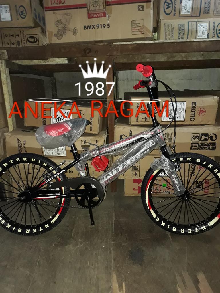 SEPEDA ANAK BMX 20 INTER BIKE (BLACK)