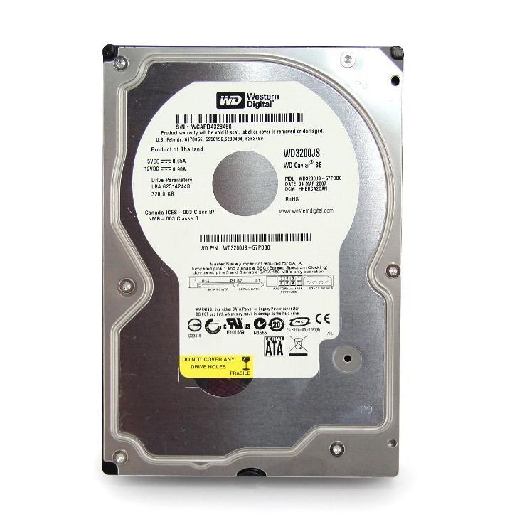 WD Western Digital Harddisk PC Internal - 320Gb - Silver