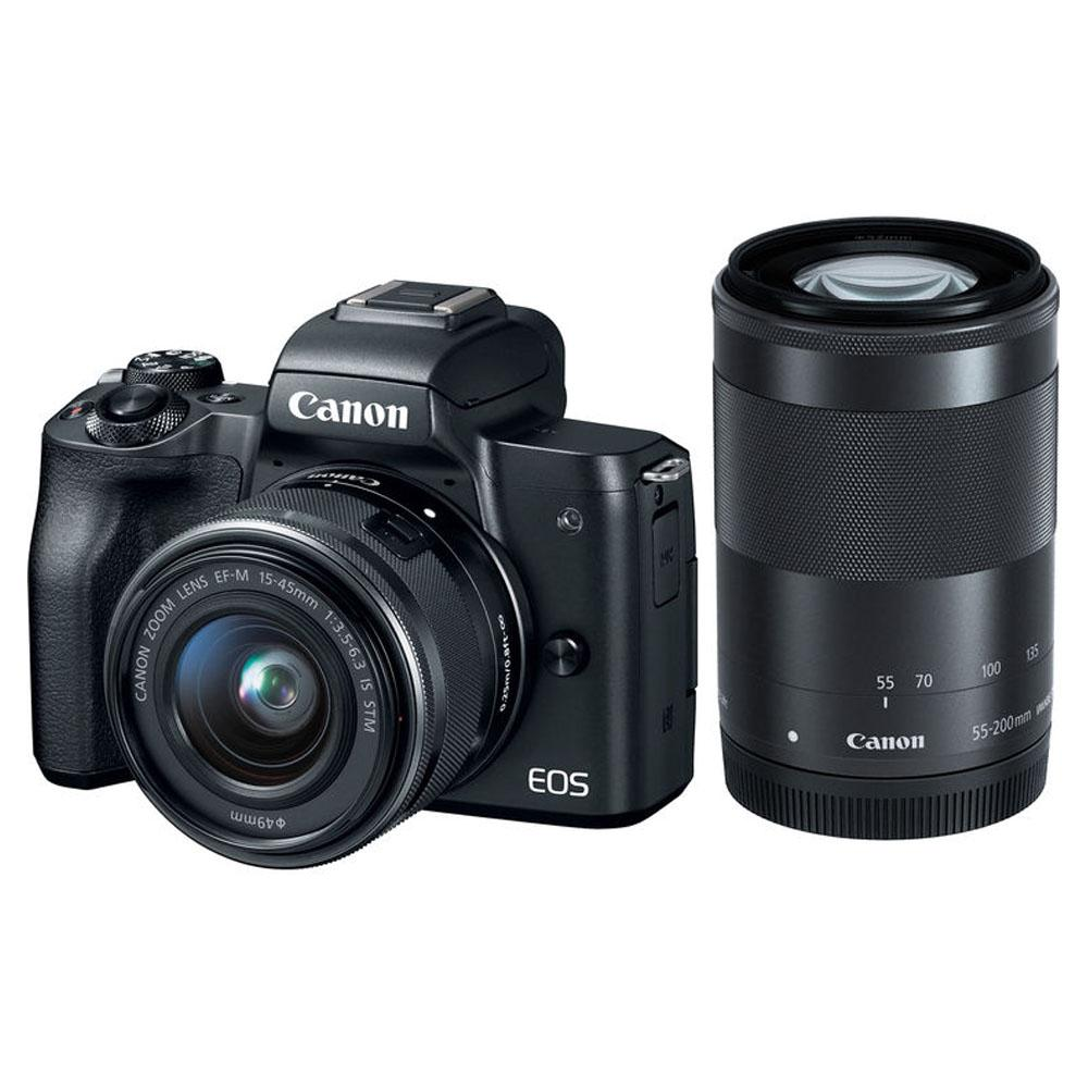 Mirrorless Canon Eos M6 Body Only Paket M50 Kit 15 45mm 55 200mm