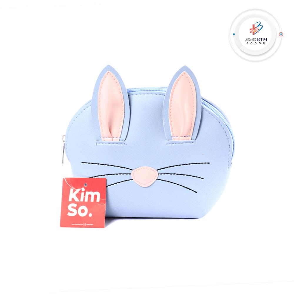 Mall BTM Bogor - Kimso Pouch Aksen Telinga Kucing Lucu Harga Murah - Biru Muda
