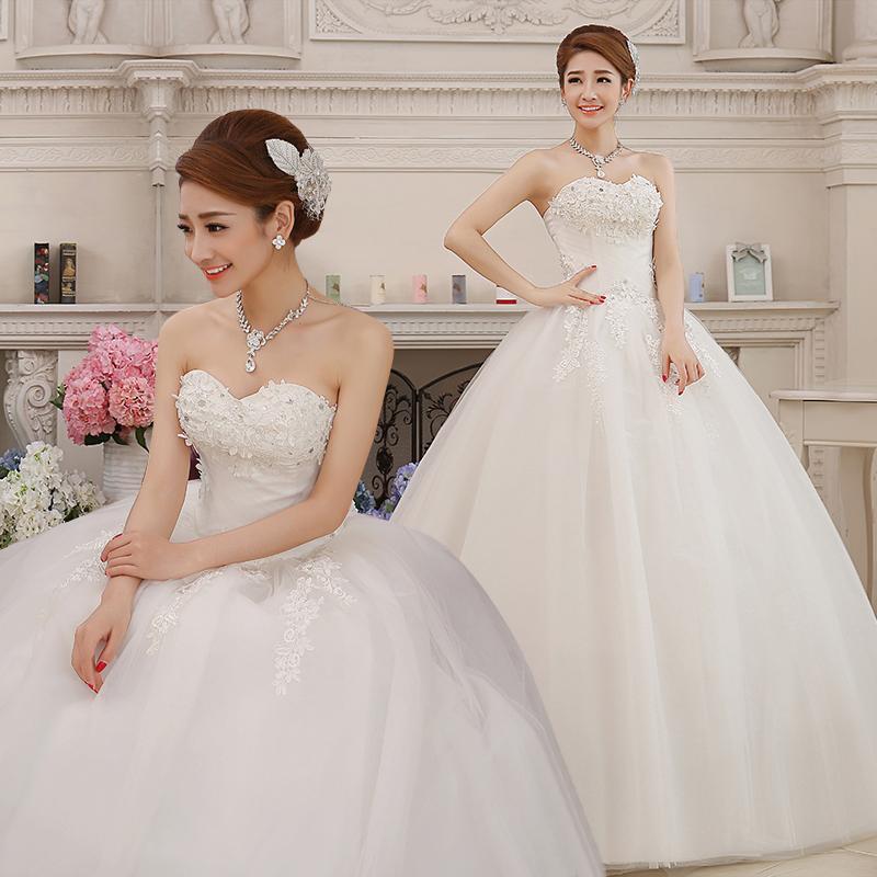 Ukuran besar BH gaun resepsi gaun pengantin pengantin wanita Gaun pengantin 2019 musim dingin baru Model
